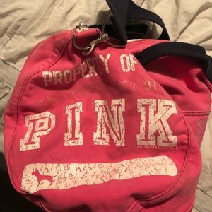 PINK ruffle bag